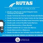 Recuerden que tienen a disposición más de 30 buses gratuitos y seguros en estas rutas (de 6am a 9pm): http://t.co/QuNXU59ZNQ