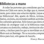 HOY carta publicada en @LUN Lo dice bien clarito: ¡vayan a las bibliotecas! #Chile http://t.co/NCEujmtIBJ