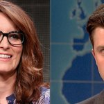 Tina Fey and Colin Jost agree that Donald Trumps presidential run is wonderful for SNL http://t.co/URDEFGYF29 http://t.co/lDf91xttXv
