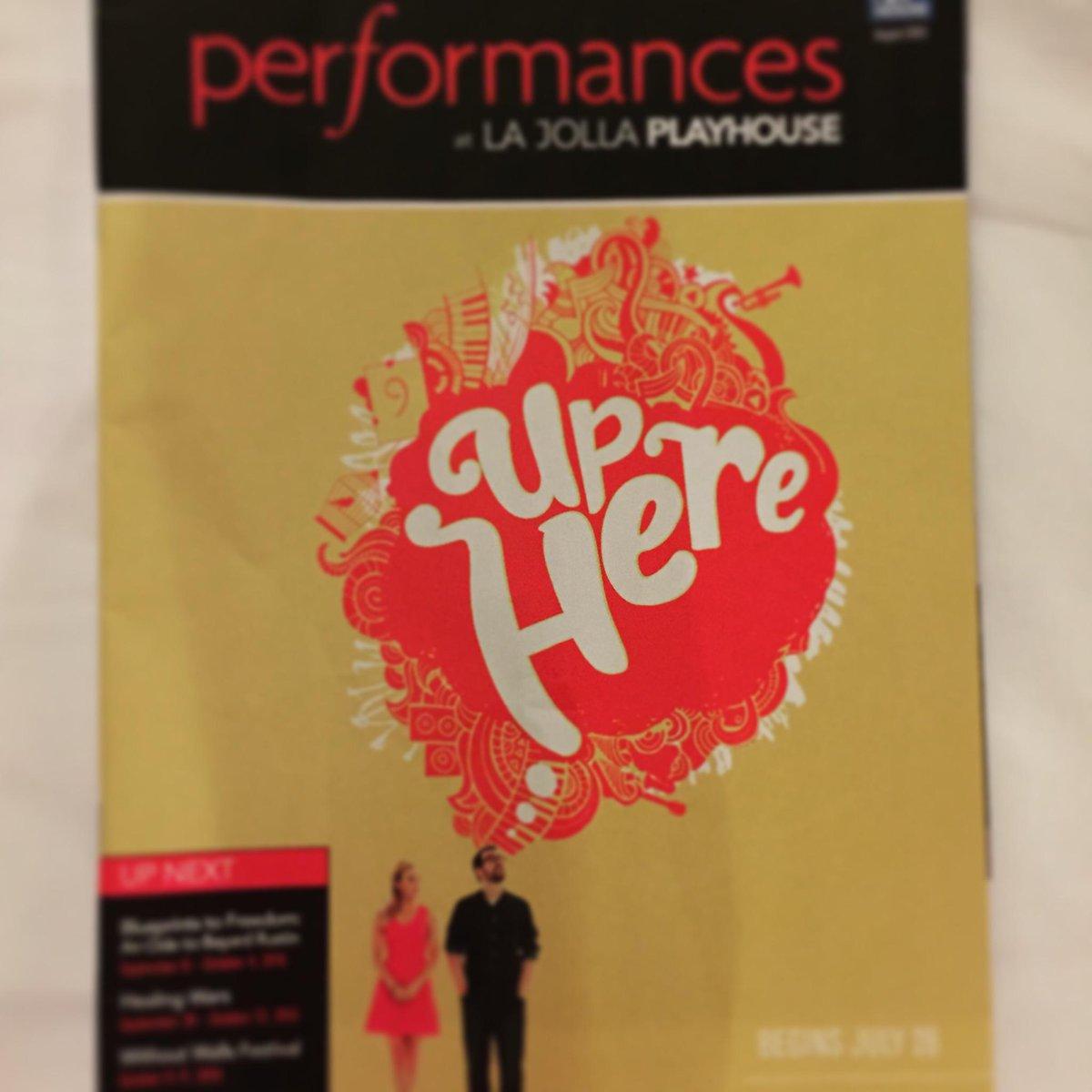#UpHere performances @lajollaplayhouse have begun! #rundontwalk http://t.co/9PZueZap8d
