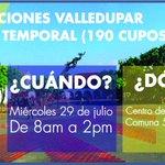 Estás en Valledupar y eres mototaxista? Inscripciones #EmpleoTemporal de 8am a 2pm en Centro Nueva Vida @alcaldiavpar http://t.co/sRcT9RG0ro
