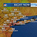 #NYC 11 AM: 89 at @CentralParkNYC, Feels Like 91. Other 11 AM temperatures across the tri-state area: #Sweaty http://t.co/lShFC6YBpe