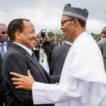 """@GarShehu: PHOTOS: Pres. @MBuhari in Cameroon earlier today. http://t.co/ubKhJmJprt"""