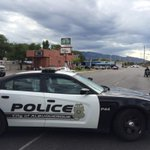 Pic snapped at Indiana and Zuni-- @ABQPOLICE have Zuni closed due to car chase turned foot pursuit. @krqe http://t.co/uSQq4iYCwz
