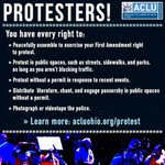 You have rights as a protester. Find them here: http://t.co/xrTIXgyTPT #BlackLivesMatter #SamDubose http://t.co/0xifxgQpgp