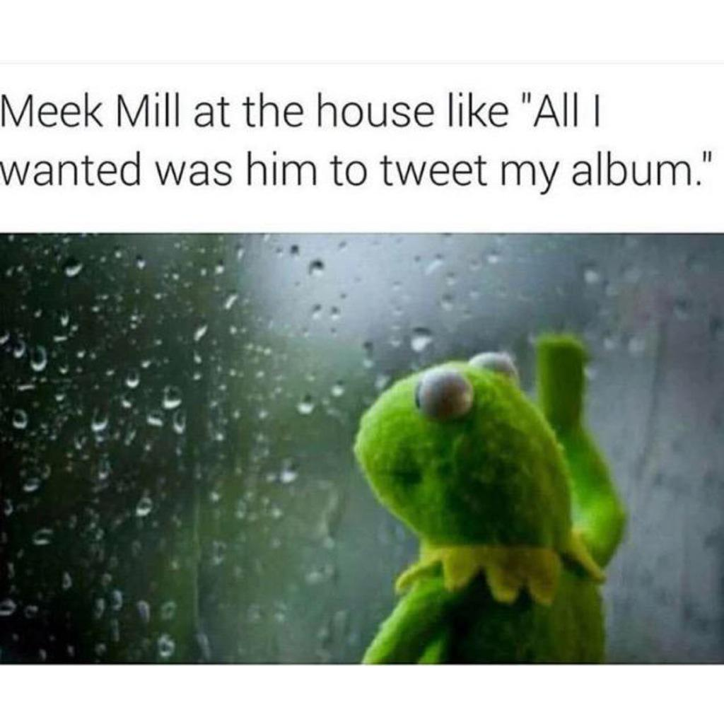 Meek's gonna need a #Drake feature on his diss so it can be fire