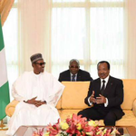 More Photos of President @MBuahri in Cameroon today. http://t.co/kBVpbOBjRQ
