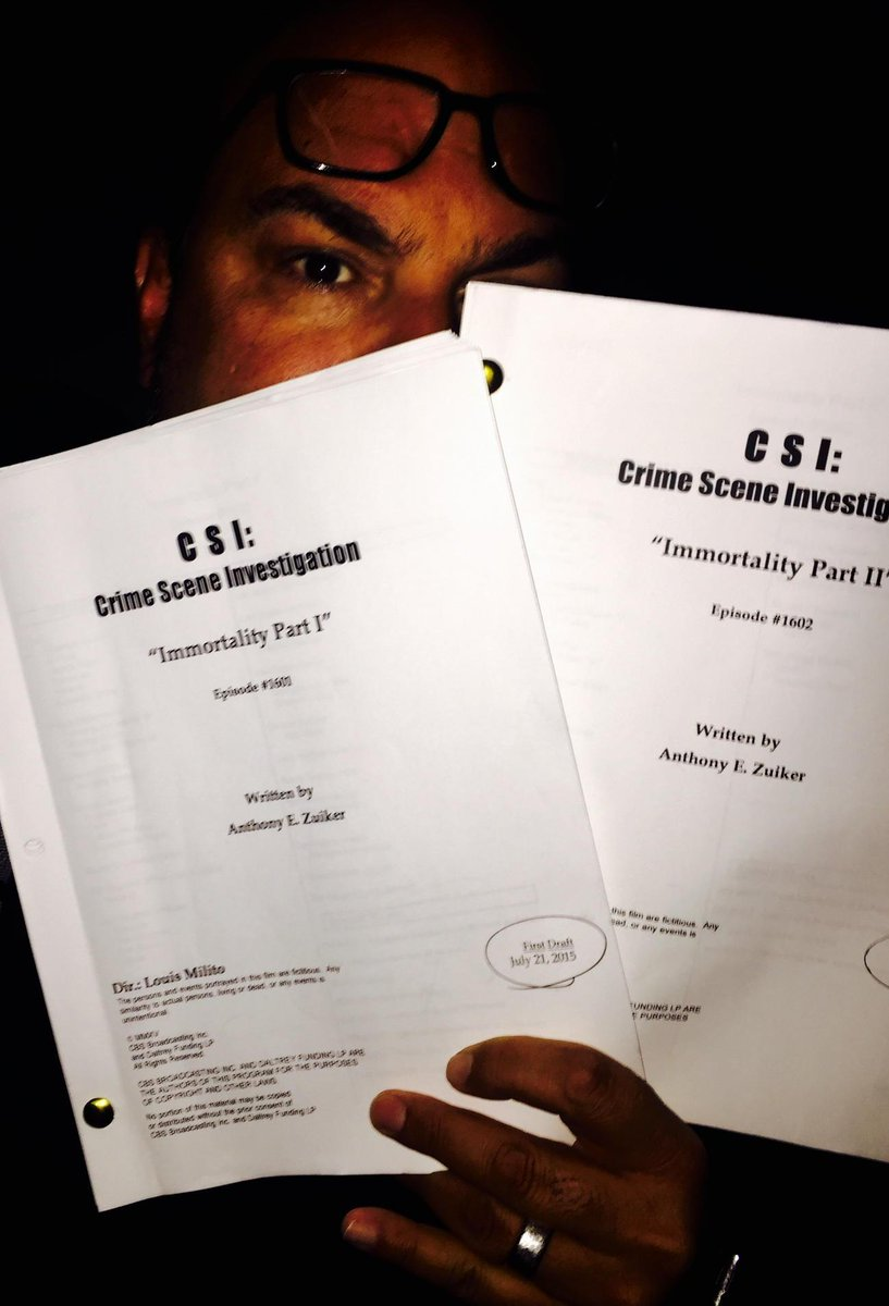 It begins... The first day of shooting for the CSI finale.  Stay tuned! http://t.co/I9paQxzCp1
