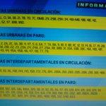 Rutas en circulación y rutas en paro #ElSalvador http://t.co/cl31Bd8BG6