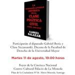 El próximo 11 de agosto el historiador Gabriel Salazar presenta su nuevo libro a las 19 hrs en el @CCPLM Te esperamos http://t.co/oBJuvmXN2i