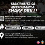 RT MMDA: RT YouScoop: TIP: Share the situation in your area during the #MMShakeDrill by using the LOCATION feature… http://t.co/9EMDLnrdc8