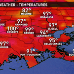 WHOA! It is up to 99° at @NO_Airport in Kenner! That breaks the old record of 97° set back in 1993! #NewOrleans #4WWL http://t.co/lA5ncqoyW4