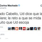 El reto de María Corina a Diosdado Cabello http://t.co/AYJjPwqAYT http://t.co/M6rJY1T6CL