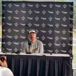 Saints GM Mickey Loomis addressing media at Greenbrier http://t.co/HYNsyqspyV