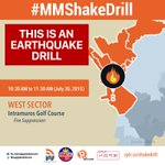 LIVE: #MMShakeDrill starts at West Sector   MMDA Workers Inn & Intramuros Golf Course http://t.co/NTqRFxoVgA