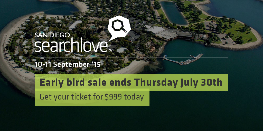 It's the final day to save $300 on the Searchlove San Diego experience! Review the line up: https://t.co/IX5MNPxT3M http://t.co/Ly9iXnTgTK