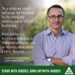 #AdamGoodes is a formidable Australian, champion sportsman & inspiring advocate for a better Australia. http://t.co/Hi6bGInQAV