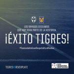 Los #Rayados deseamos que hoy sean parte de la historia ¡Éxito @TigresOficial! #TeniendoUnGranRespetoALosRivales http://t.co/HNlsAQI2WB