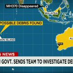 Map shows location where #MH370 disappeared along with the location of the possible debris that was just found http://t.co/cRnzuAVVei