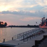 PIC: A stunning reflection of the sunset at the Naval Park at @CanalsideBflo. @WGRZ http://t.co/Mjxd4jGtTL