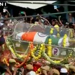 Former President APJ Abdul Kalam will be buried with full state honours at his hometown Rameswaram (Pictures - ANI) http://t.co/BOchyTlepL