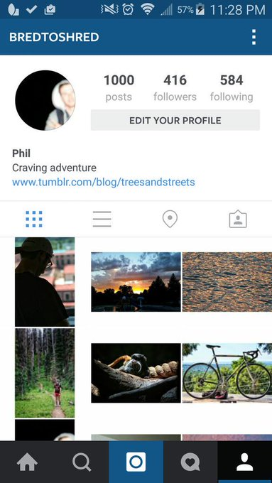 Hit 1000 insta posts tonight, scroll back to the beginning and you'll see a lot of good, bad, and ugly http://t.co/E7UsTpZDbw