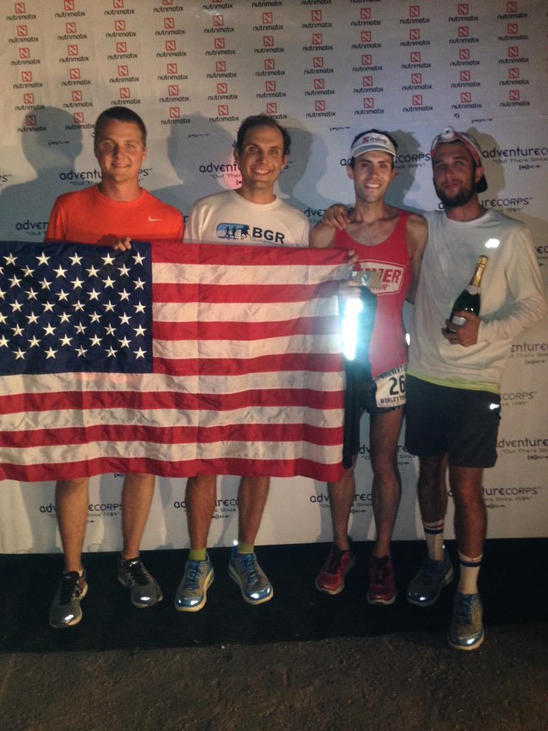 2015 Nutrimatix Badwater 135 champion Pete Kostelnick, and crew. Time: 23:27:10 Congrats! http://t.co/mi1BTZHSBy