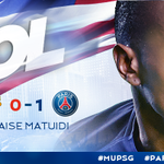 25: GOOOOOOL DE @MATUIDIBlaise!!!!!! PSG 1 x 0 Manchester United #MUPSG http://t.co/mPDdoP0uUN