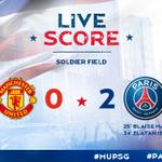 37 Le @psg_inside mène désormais 2 buts à 0 face à @ManUtd ! #MUPSG #ParisLovesUS http://t.co/LnlGUMWHzp