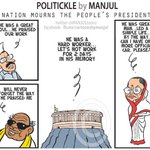 Nation mourns #PeoplesPresident Abdul #KalamSir. My #cartoon http://t.co/WpCM9neO0S