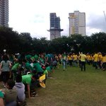 Majority of UST earthquake drill participants coming from the HS department #MMShakeDrill http://t.co/nDmt19iNk2