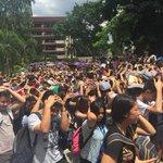 PUP Sta Mesa students participate in the #MMShakeDrill   via @pia_gutierrez http://t.co/kTqqBSOOxl