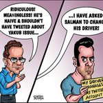 Bollywood Toons: Salman Khans tweets #YakubHanged http://t.co/xS0obc4Nxf