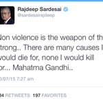 Dear @sardesairajdeep then what happened at Madison Square ?? Why you resorted to Physical & verbal Violence ??? http://t.co/pbNLHFp0IT