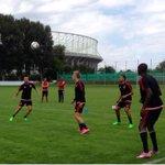 Daags na #rapaja stond er vanochtend een training onder de rook van het Ernst Happel Stadion op het programma.