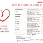 Puntos de donación JUEVES 30 de JULIO #Valencia .Acude, los enfermos siguen necesitando tu ayuda @gva_dsxo http://t.co/z79wPYx7kF