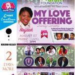 #ChMCountdown #2DaysMore: #MyLoveOffering Feat. @NayaahMusic + #Daughters #MLO15 📆1.08.15. 🏫PerezChapel ⌚3PM🔖GHC20.00 http://t.co/wlJOoxLD78