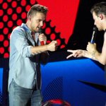 Liam and Louis on stage at Arrowhead Stadium in Kansas City (July 28, 2015) # 35  #MTVHottest One Direction http://t.co/fCsN327oIm