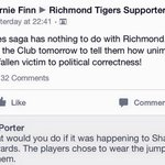 Liberal MP Bernie Finn unhappy Richmond will be supporting #AdamGoodes on Friday night. #afl #springst http://t.co/HZY8xYvvlw