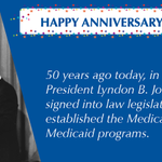 RT @MedicareGov: For 50 years #Medicare #Medicaid have been changing American lives. Happy Birthday #Medicare! #KeepingUSHealthy