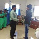 #Sivakarthikeyan visits #Madurai to enquire the medical condition of #ParavaiMuniyamma!
