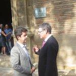Primer encuentro trabajo entre @vicenteguilleni y Luis Felipe, alcalde #Huesca http://t.co/a8Lj0BiBb2 @aytohuesca http://t.co/wslj6GjGXk