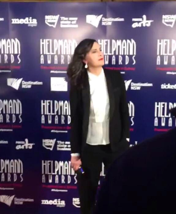 Pamela Rabe being hella sexy at the Helpmann Awards appreciation tweet. http://t.co/4v0ppPohVG