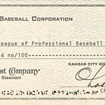 Check Mr. Kauffman wrote to pay for @Royals American League membership fee issued by Commerce Bank! #TBT #Commerce150 http://t.co/6lTi1K7UL9