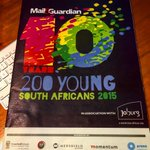 Heading over to my first ever @mailandguardian Top 200 Young South Africans. Wonder who Ill meet there #MG200Young http://t.co/b5pNfblURM