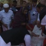 Yes saw the PM rushing thats my PM MT @vinod_sharma PM touches feet of elder brother of President Kalam... http://t.co/7rruOlXF3U