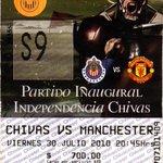 Boleto de la inauguración del Estadio Omnilife, @Chivas enfrentó al Manchester #UnDíaComoHoy hace 5 años ???????????????????????? http://t.co/stJWSsSwBY