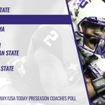 The Horned Frogs are tabbed No. 2 in the first 2015 Amway @USATODAYsports Coaches Poll. #ProveThemRight http://t.co/Dlhq8bY9um