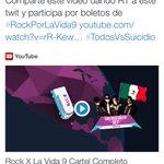 Gana uno de los 300 boletos de #RockXLaVida9 ve al Twitter @Rockporlavida y da RT entre 11 y 1 PM http://t.co/soSu0AVl2l