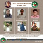 PTI Karachi Pres. @AliHZaidiPTI has appointed District Organizers for the Karachi Region to prepare for LB election http://t.co/83gFfZDmej